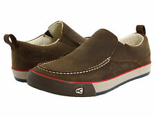 NIB Keen Timmons Slip-On Slate Black Brown Leather Shoes Men's Size 10 11 $90