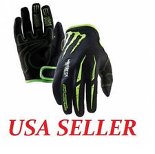 2014 New Black Monster Energy MX Gloves Glove Motorcycle Bike Outdoor Sports