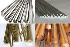 Rods for Knife Making/Crafts Brass Copper Stainless Aluminum Various Sizes