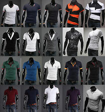 2014 Collection Mens Stylish Casual Slim-Fit Short Sleeve Polo T-Shirts Tee Tops