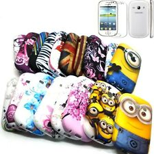 Colorful Soft TPU GEL Case Cover w/LCD Protector for Samsung Galaxy Fame S6810
