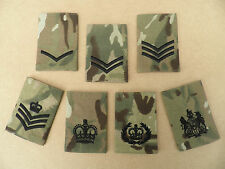 UK Forces, MTP rank epaulette sliders [pair] NCO ranks, new & unissued.