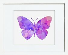 Watercolour Print of Original Painting - Butterfly Wall Hanging Art Picture 2Wa