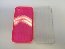 TPU Gel 3D Diamond Pattern Soft Jelly Case Phone Cover For Apple iPhone 4S 4G 4