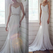 2014 Spaghetti Straps Sequined Sleeveless Ball Gown Bridesmaid Wedding Dresses