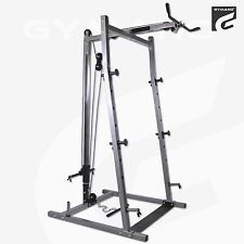 GYMANO | BARBELL SQUAT RACK WITH LAT PULL DOWN SATATION - POWER/STANDS/CAGE
