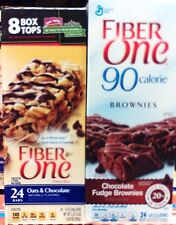 General Mills Fiber One Cereal Bars ..24ct Box ..  2 Flav Choices