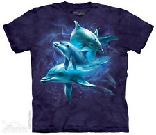 Dolphin Collage T-Shirt from The Mountain-Adult S-5X & Child S-XL