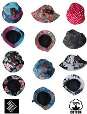 Bucket Hat Boonie Hunting Flower Fishing HUF Outdoor Cap Unisex 100% Cotton/NEW*