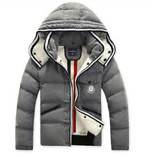 2014 New Fashion Men's Winter Casual Hooded Slim Down Jacket Thicken Warm Coat +