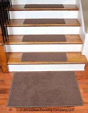 Dean Premium Stainmaster Nylon Carpet Stair Treads - O. P. Mantle (13) with Mat
