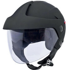 NEW Flat/Matte Black 3/4 Open Face Dual Visor DOT Motorcycle Helmet - S/M/L/XL