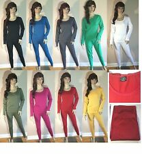 Victoria Ladies Women 2Pc Fleece Lined Thermal Underwear Long John  S M L XL XXL
