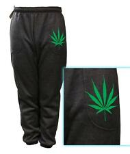 MENS PRINTED Addicted Marijuana WEED FUNNY FLEECE JOGGER DRAWSTRING SWEAT PANTS