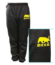 NEW MENS PRINTED BEER DEER BEAR FUNNY FLEECE JOGGER DRAWSTRING SWEAT PANTS S~5XL