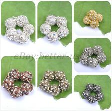 Silver/Gold Plated Bronze Copper Crystal Powerful Magnet Clasps Jewelry Findings