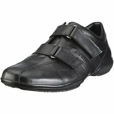Geox Men's U City H Black Leather Double Strap Oxford