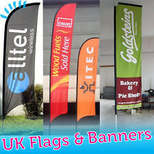 **Custom Printed* - Feather Flag - Sail Flying Banner - Outdoor Advertising Sign