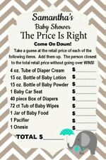 14 Personalized Baby Shower - The Price Is Right Game -Party Games - Asst Colors