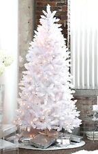 Pre-Lit 6.5' Madison Pine Artificial Christmas Tree White- Multiple color lights