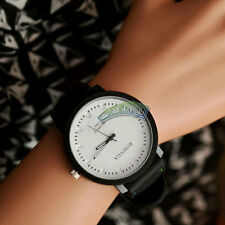 Fashion New Big Dial Unisex Lovers Quartz Analog Silicone Band Wrist Dress Watch
