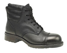 Amblers FS2 Black Leather Heat Resistant Safety Work Boot SB-HRO