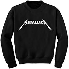METALLICA Logo CREWNECK SWEATSHIRT S M L XL Mens Black Pullover Heavy Jumper NEW
