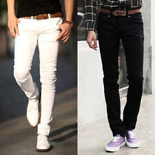 CLEARANCE TOP FASHION Men Long Casual Pants Skinny Jeans Slim Fit Jean Trousers
