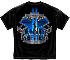 New EMS T SHIRT WE WILL NEVER FORGET BRAVERY  HONOR AND SACRIFICE