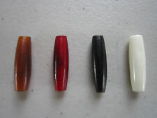 "100 HAIRPIPE 1""  BEADS BUFFALO BONE/HORN JEWELRY CRAFTS AMBER BLACK RED WHITE"