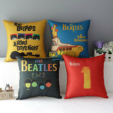 Retro Beatles Home Sofa Throw Decorative Cotton Linen Pillow Case Cushion Cover