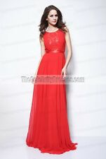 Red Backless Chiffon and Lace Prom Dresses Inspired by Ximena Navarrete