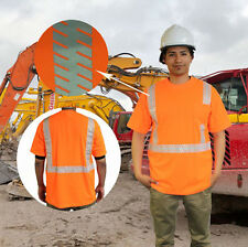 NEW HI VIS ANSI/ISEA Class 2 Safety T-Shirt Segmented Reflective Tape ALL SIZES