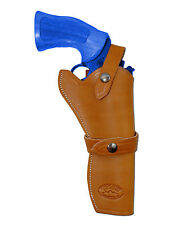 "NEW Barsony Tan Leather Western Style Gun Holster for Ruger 6"" Revolvers"