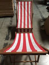 Telescope Wood Cabana Beach Chair Stripe Set of 2