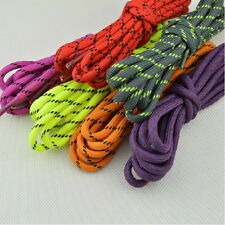 "47.2"" 120cm Colorful Men Women Round Shoelaces Hiking Walking Skate Boot Laces"