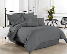 Hotel Collection 800TC Best New Grey Striped 4pc Sheet Set 100% Egyptian Cotton
