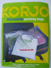 5/10/15 New KORJO Lrg Resealable Travel Luggage Packing Cloth Shoes Storage Bags