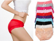 Womens/Girls Briefs Panties Underwear Lace Comfort Knickers 6 Color