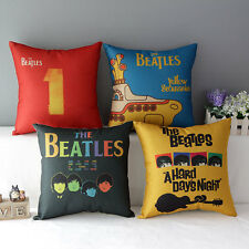Vintage The Beatles Classic Throw Pillow Case Cotton Linen Cushion Cover Collect