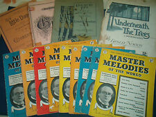 VINTAGE CLASSICAL SHEET MUSIC, MASTER MELODIES BOOKS  click on the site to chose