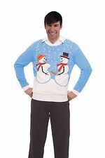 Snow Couple Christmas Sweater Adult MD-XL Licensed Forum Brand New