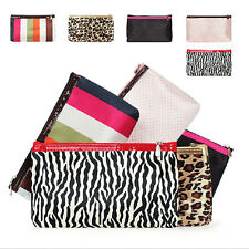 Multicolor Cosmetic Bag Tool Bag  Storage Change Hand Bag With mirror