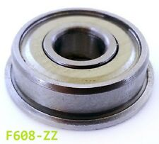 F608 ZZ Metal Sealed Flanged Bearing 8x22x7mm Flanged F608zz - Choose Pack Size