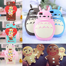 3D Cute Totoro / Giraffe / Cookies Silicone Case Cover For iPhone 6 6 Plus 5S 4S