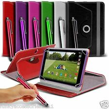 Universal 360 PU Leather Rotating Spring Stand Cover Case Swivel Flip Skin+Pen