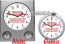 Wall Clock For Your Desire Theme OWN Desired Motif Logo Image Photo Text Dedic.