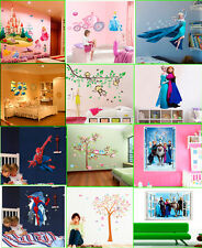 Hot Princess Castle Minions Spiderman Animals World Wall Stickers Decals Decor