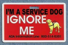 I'M A SERVICE DOG IGNORE ME service dog vest clip instead of patch optional ADA