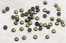 Marcasite Natural Round Loose Stones Machine Cut Polished Small Sizes 50 Pack